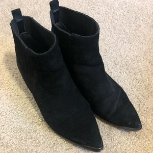 Marc Fisher Black Suede Pointed Toe Booties